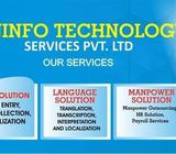 Manpower Data Entry Transcription Translation Outsourcing Services