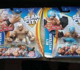 Two sealed pack slam city action figure