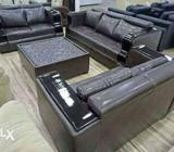 0% emi from Bajaj Finance 7 Seater leather sofa