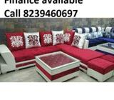 Today Deal New sofa set 5 seater 8490, L shape sofa 13990, Emi availa