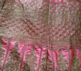 Two time wear silk jari work dress wid pink pjaaami n net duptta