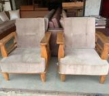 Wooden sofa 3+1+1 natural water proof polish