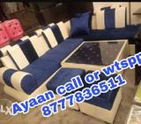 Blue And White Sectional Sofa