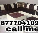Brown and cream sectionals couch