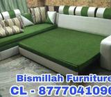 L shape sofa cum bed with storages