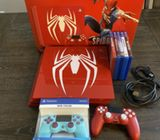 PlayStation Ps4 Pro 1TB Limited Edition Spider-Man Red Console