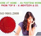 Simple Home based ads posting work call 9898665104 - Chhattisgarh